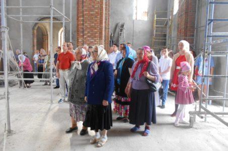 Молебен в храме великомученика Георгия Победоносца  ст. Брюховецкой.